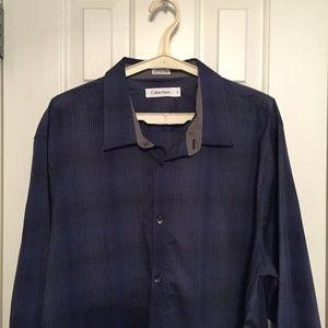 Calvin Klein XL Blue Long Sleeve Shirt  -New/Tags